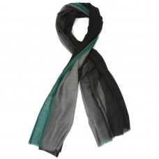 Black-Grey shaded Silk & Wool Scarf  (Black-Grey)
