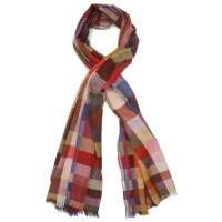 Checks Pure Wool Scarf (Multi-colour)