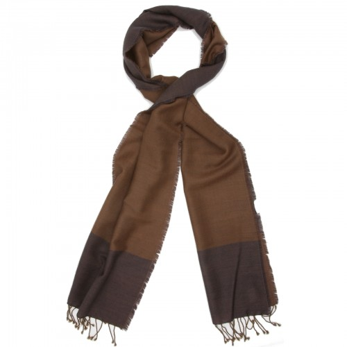 Plain Reversible Scarf (Brown and Coffee)
