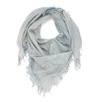 Shiny Plain Shade Cotton & Bamboo Scarf (Blue)