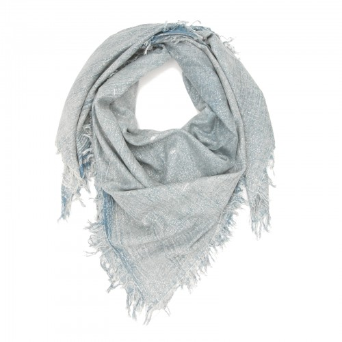 Shiny Plain Shade Cotton & Bamboo Scarf (Blue)