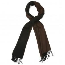 Plain Reversible Pure Wool Scarf (Brown & Black)