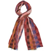 Checks Pure Wool Scarf (Multi-colour)
