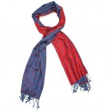 Dots Pure Satin Silk Scarf (Red & Purple)