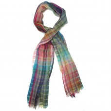 Multi-colour Checks Pure Wool Scarf (Multi-colour)