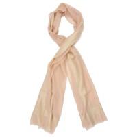 Horizontal & Vertical Line Silk + Wool Scarf (Peach)