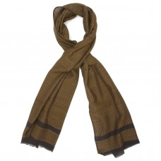 Small Checks Cotton + Wool Scarf (Green)