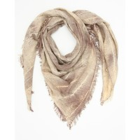 Small Checks Cotton + Bamboo Scarf (Brown)