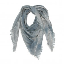 Small Checks Cotton + Bamboo Scarf (Blue Grey)