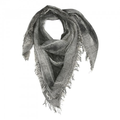Small Checks Cotton + Bamboo Scarf (Black)