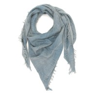 Small Checks Cotton + Bamboo Scarf (Blue)