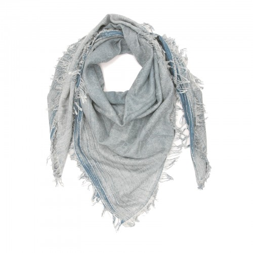 Square Cotton + Bamboo Scarf (Gray)