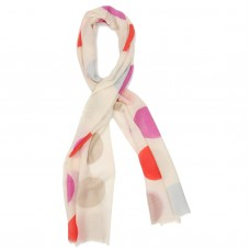 Dots Silk & Wool Scarf (Ivory)