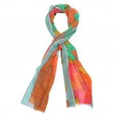 Checks Silk + Wool Scarf (Multicoloured)