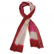 Tie Dye Silk & Wool Scarf (Red)