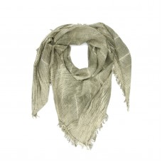 Small Checks Cotton + Bamboo Scarf (Green)