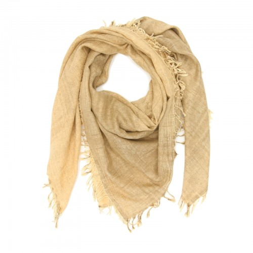 Square Cotton + Bamboo Scarf (Brown)