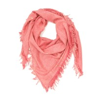 Shiny Plain Shade Cotton & Bamboo Scarf (Pink)