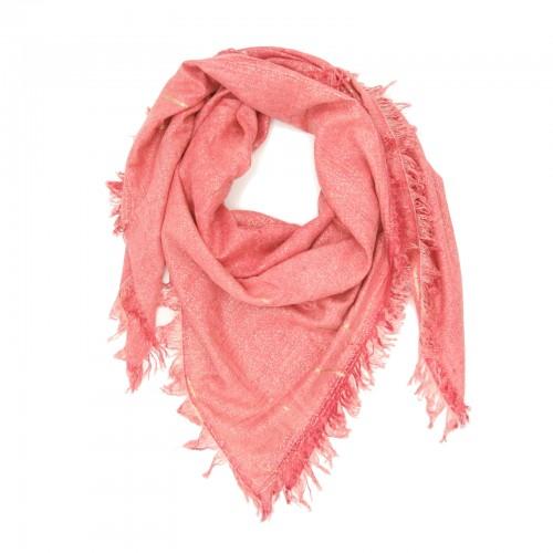 Shiny Plain Shade Cotton & Bamboo Scarf (Pink)