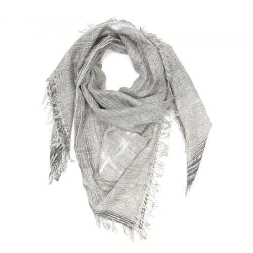 Square Cotton + Bamboo Scarf (Conventry Gray)