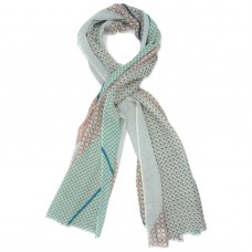 Lattice Silk + Wool Scarf (Turquoise)