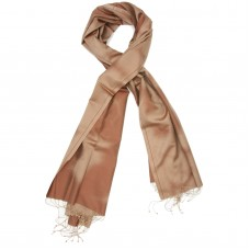Gradient Pure Satin Silk Scarf (Copper colour shades)